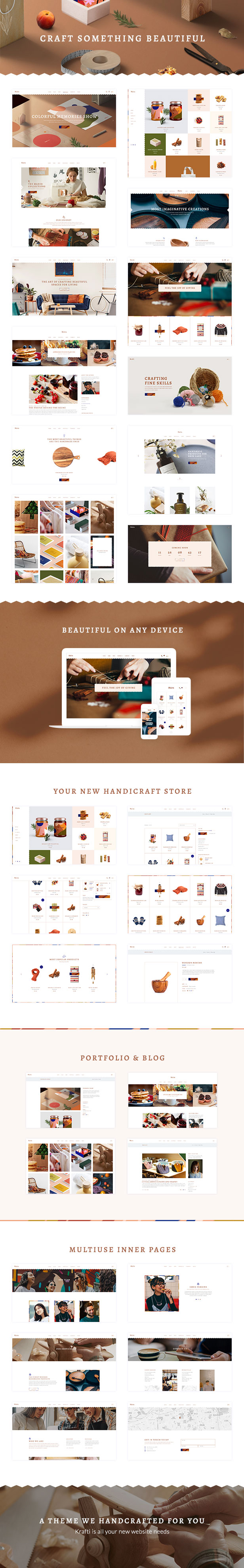 Krafti - Arts & Crafts WordPress Theme - 1